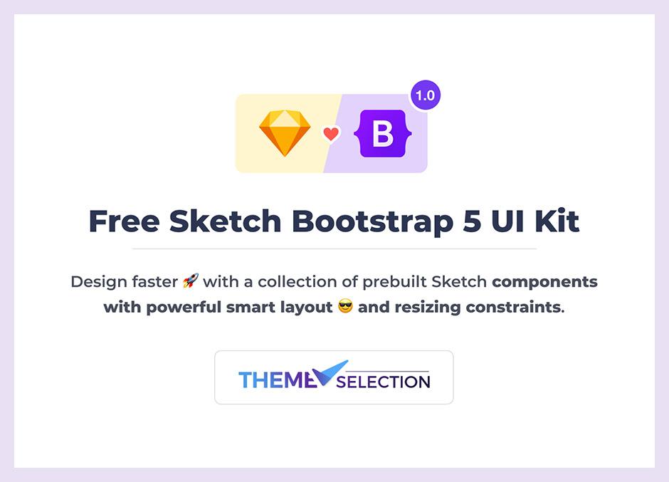 Free Sketch Bootstrap 5 UI Kit