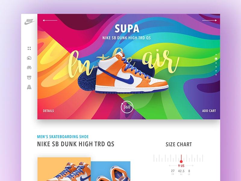 shoe website design