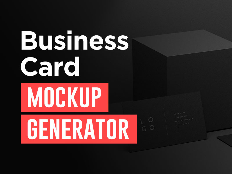 business card mockup generator