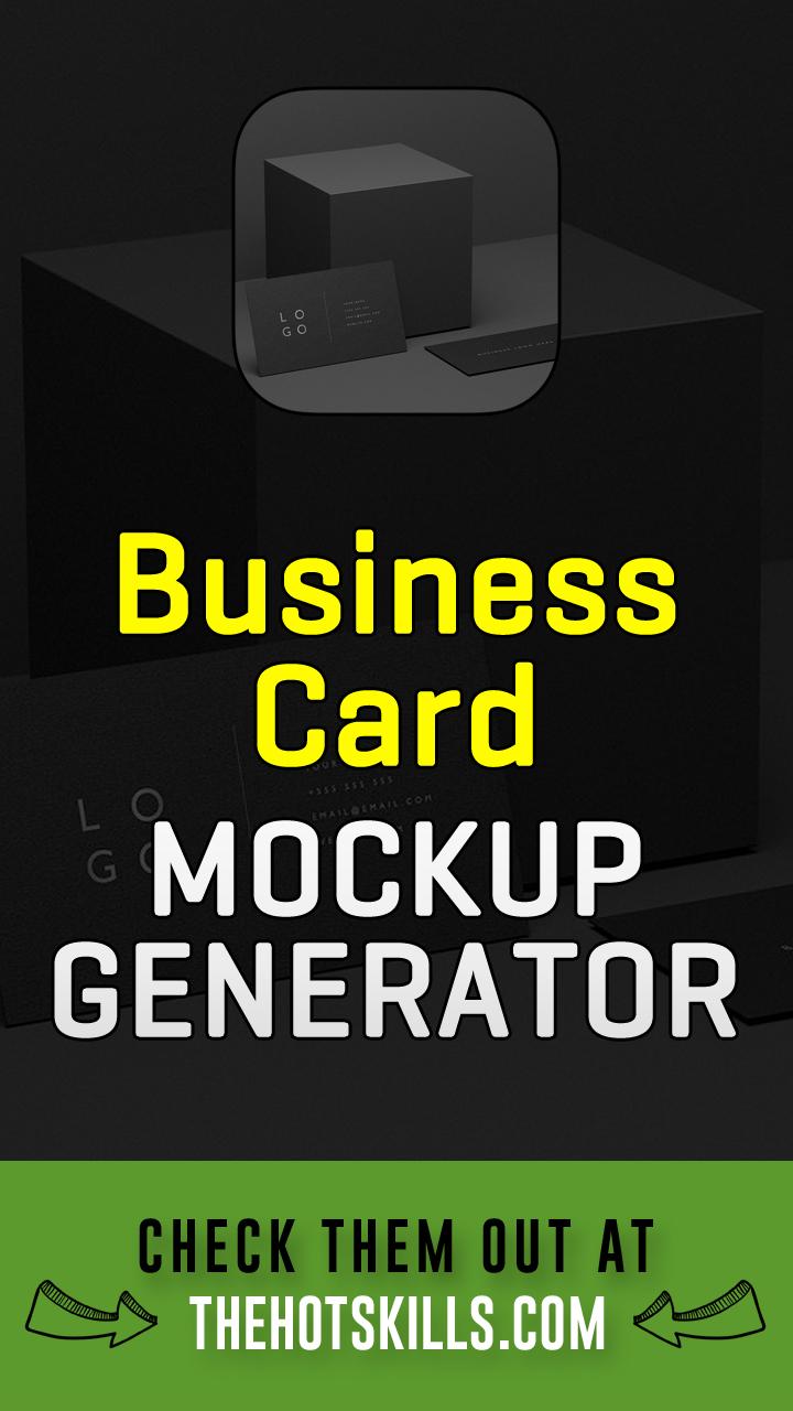 Online business card mockup generator-tools