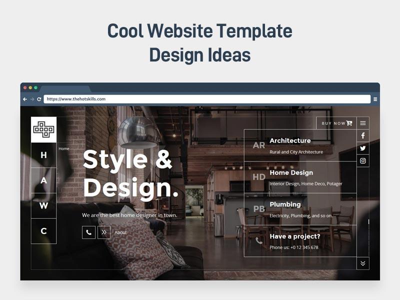 Website Template Design Ideas