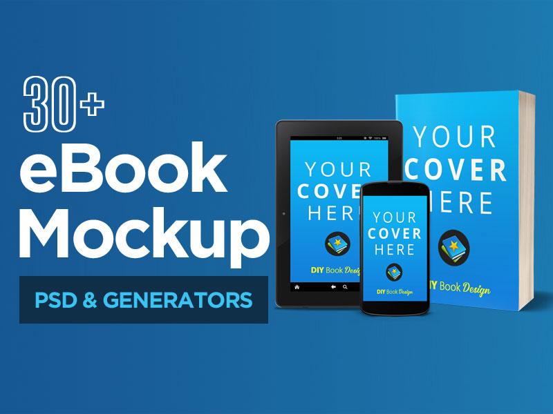 Free eBook Mockups PSD & Generators