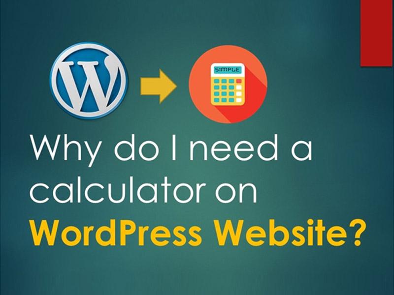Why do I need a calculator on WordPress Website