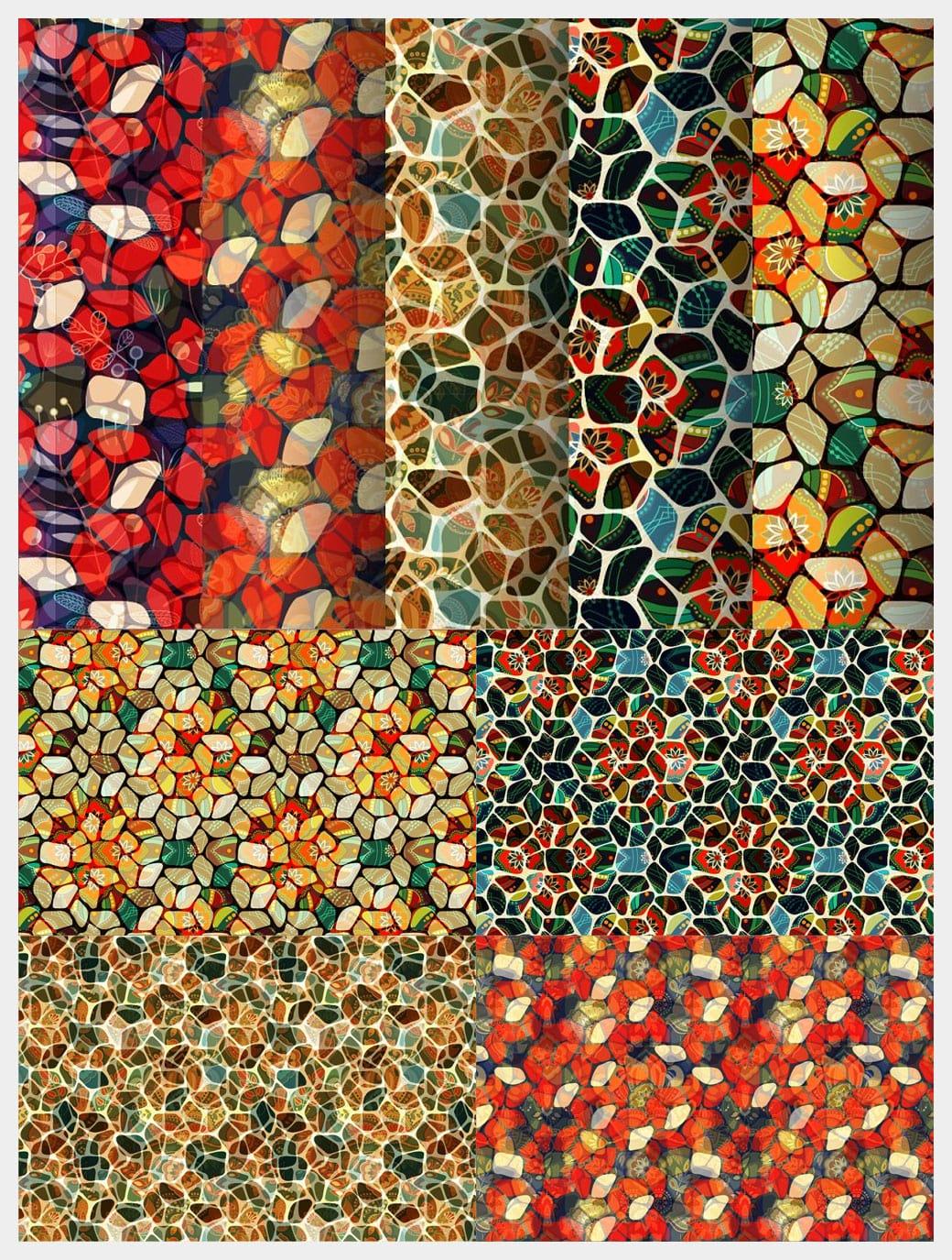 Mosaic Seamless Patterns