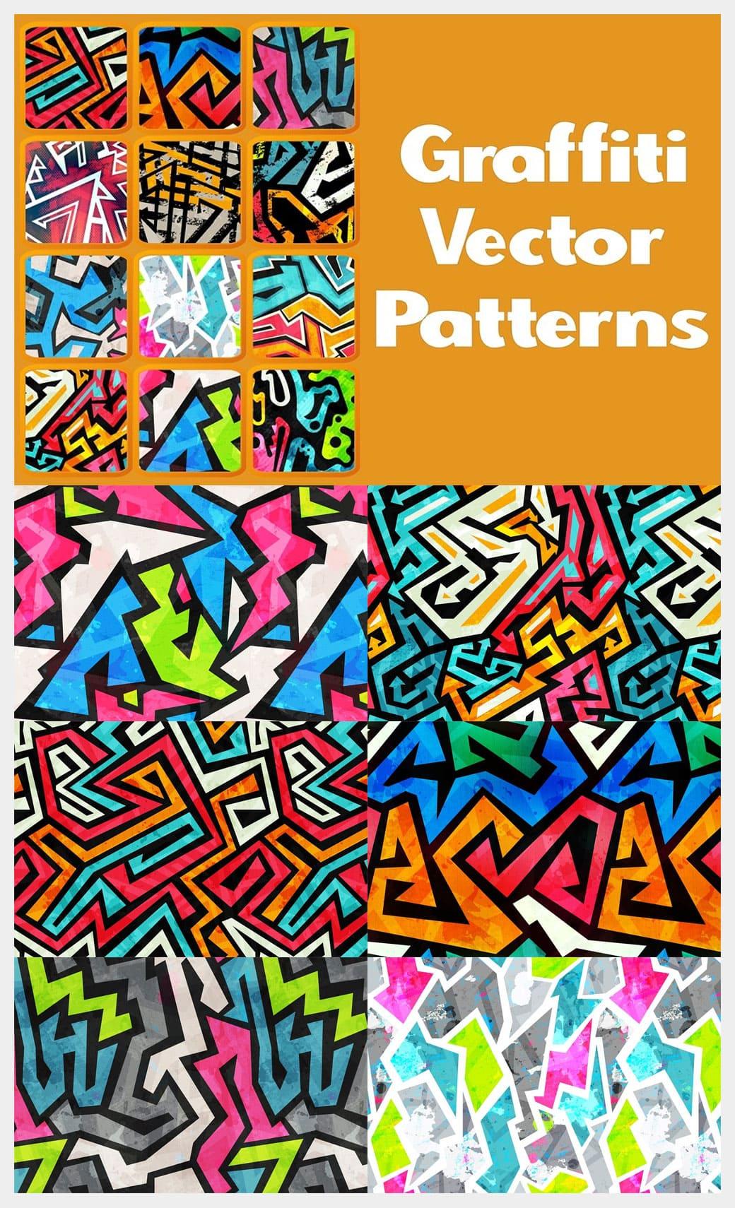 Graffiti vector patterns pack