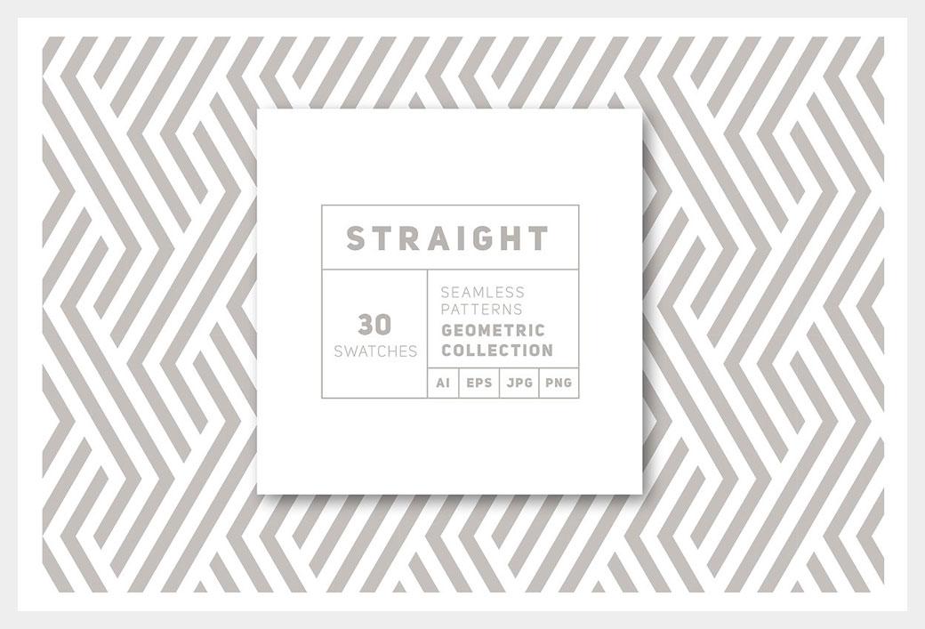 Straight Seamless Patterns Bundle