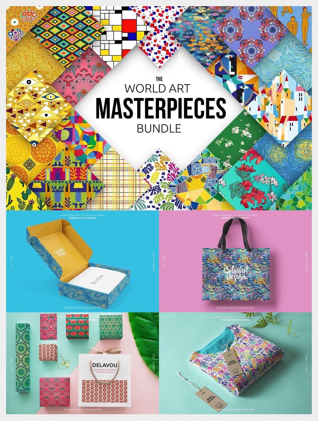 The World Art Masterpieces Patterns Bundle