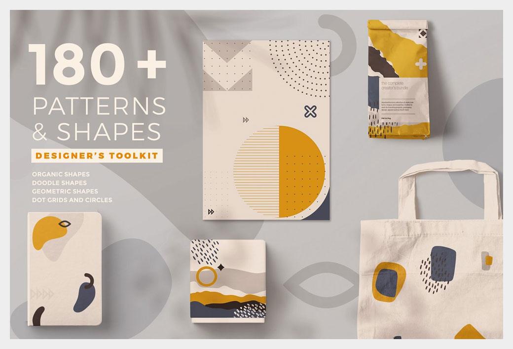 Modern Shape and Patterns Bundle