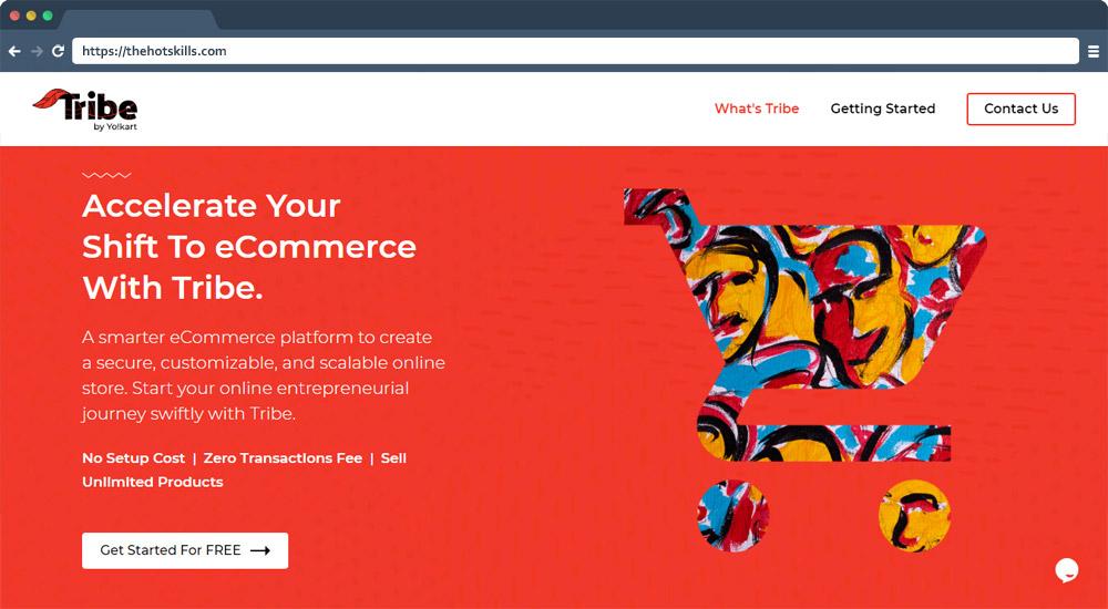 Tribe -free ecommerce platforms