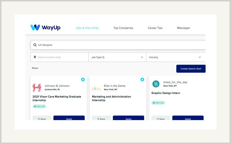 WayUp ux design Internships
