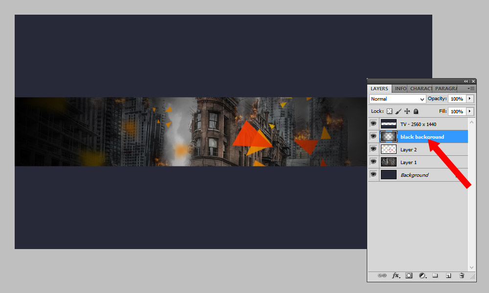 How to Make a YouTube Banner in Photoshop Step 4