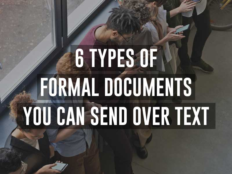 Formal Documents