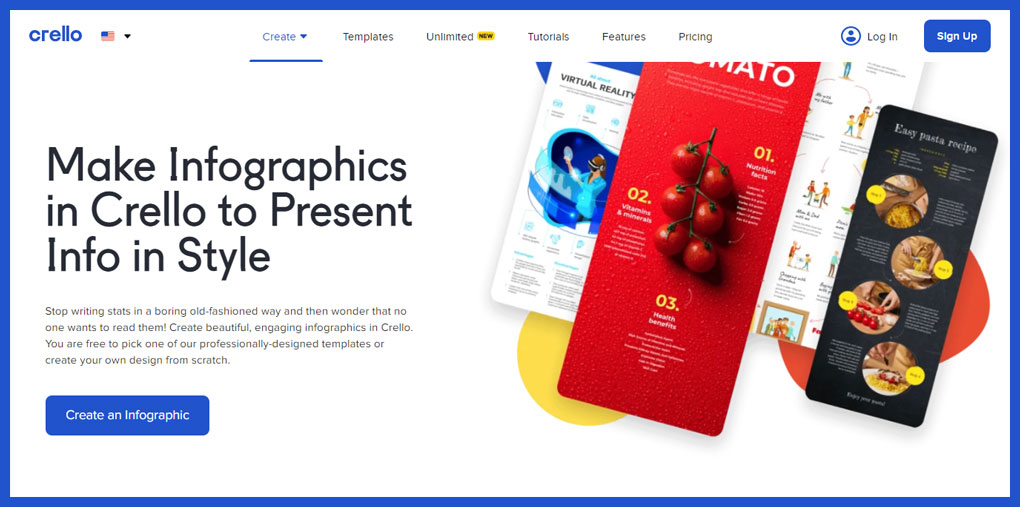 Crello – UX-Friendly Infographic Designer