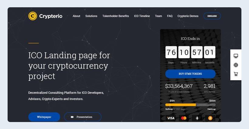 Bitcoin, ICO and Cryptocurrency WordPress Theme