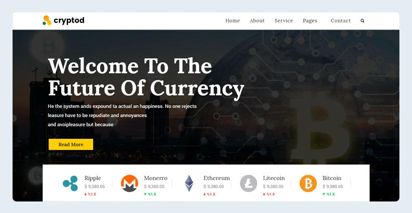 Crypto Currency & Bitcoin Template