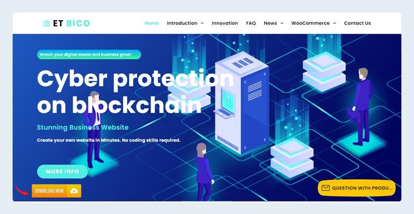 ET Bico Free Responsive Bitcoin WordPress Theme