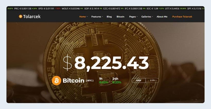 CryptoCurrency WordPress Blog Theme