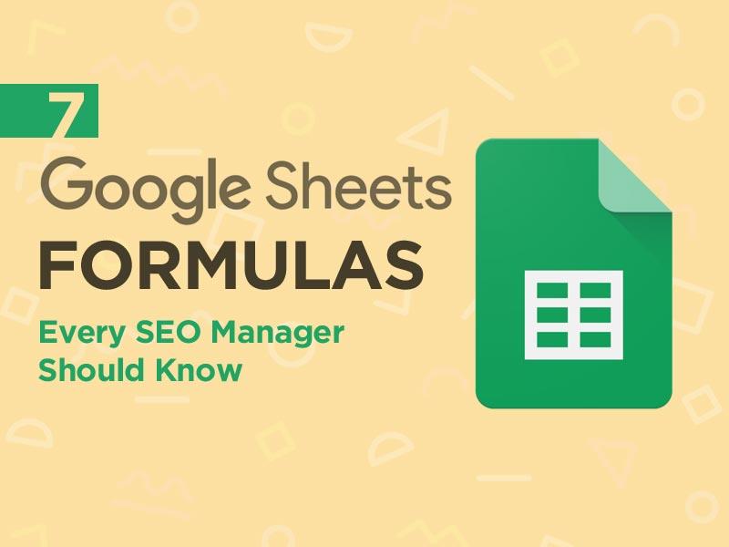 Google Sheets Formulas for SEO