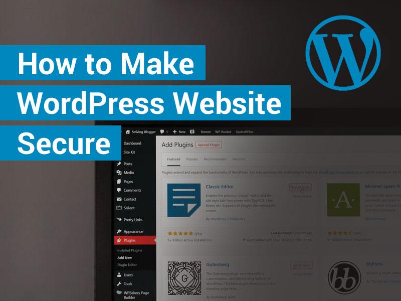 How to Make WordPress Website Secure