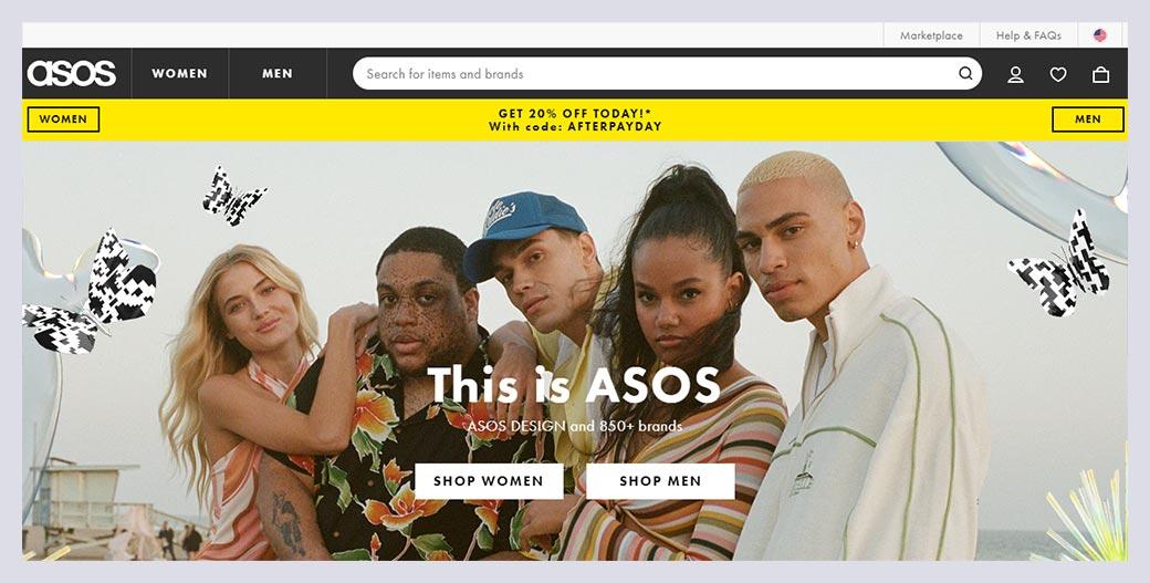 Asos Fashion Website