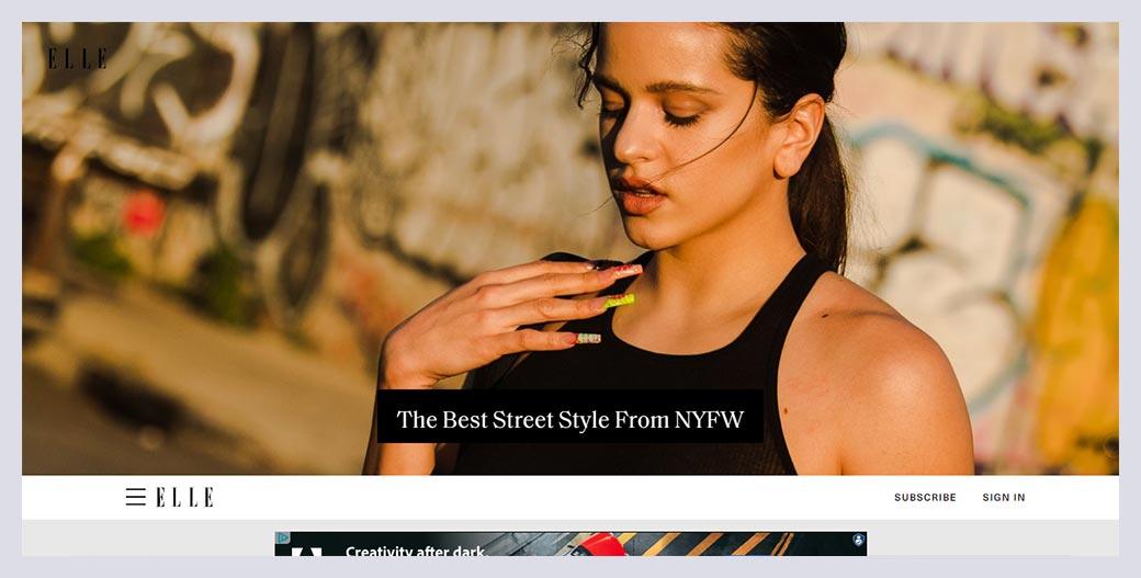 Elle Fashion Website