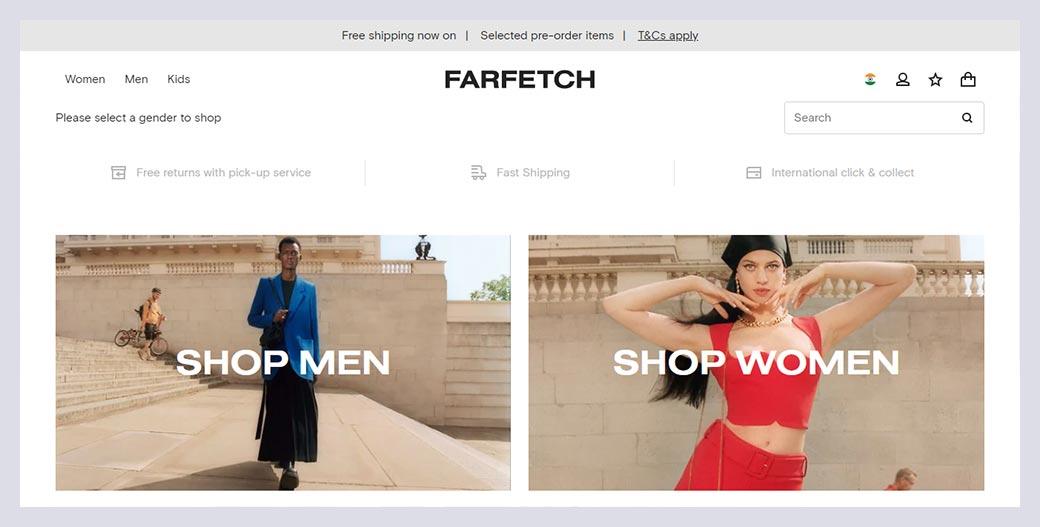 Farfetch Fashion Website