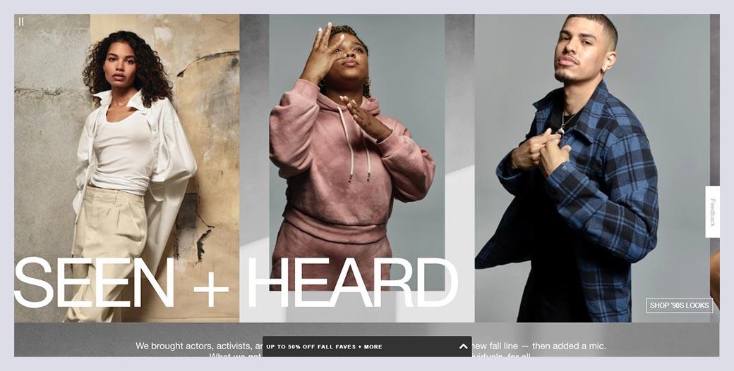 Gap Fashion Website