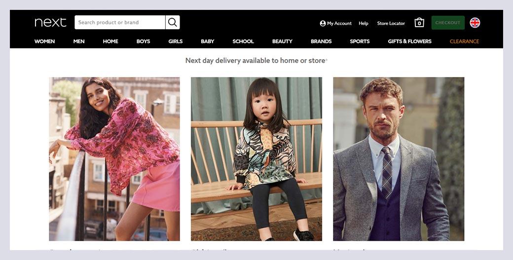 Next Fashion Website