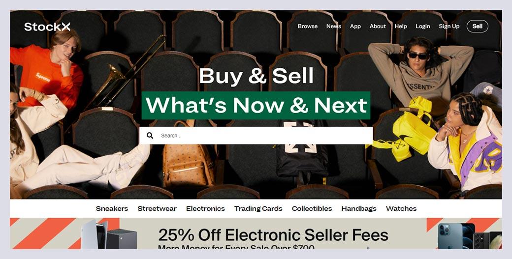 Stockx Fashion Website