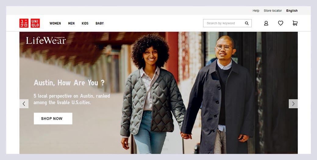 Uniqlo Fashion Website