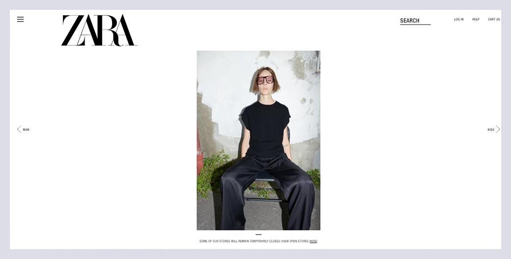 Zara Fashion Website