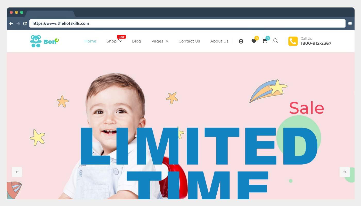 Bonbon Kids Store WooCommerce WordPress theme