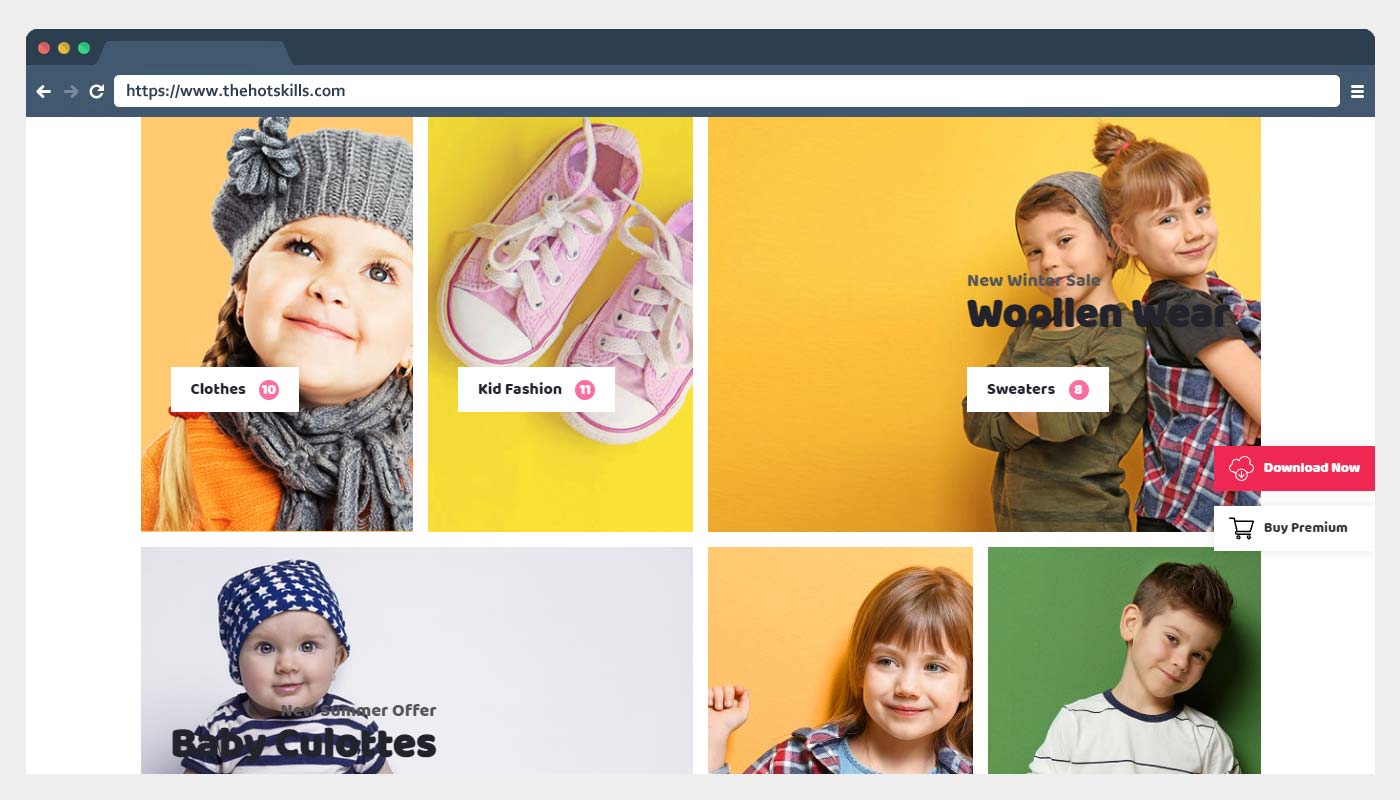Free Baby and Kids Store WooCommerce Theme