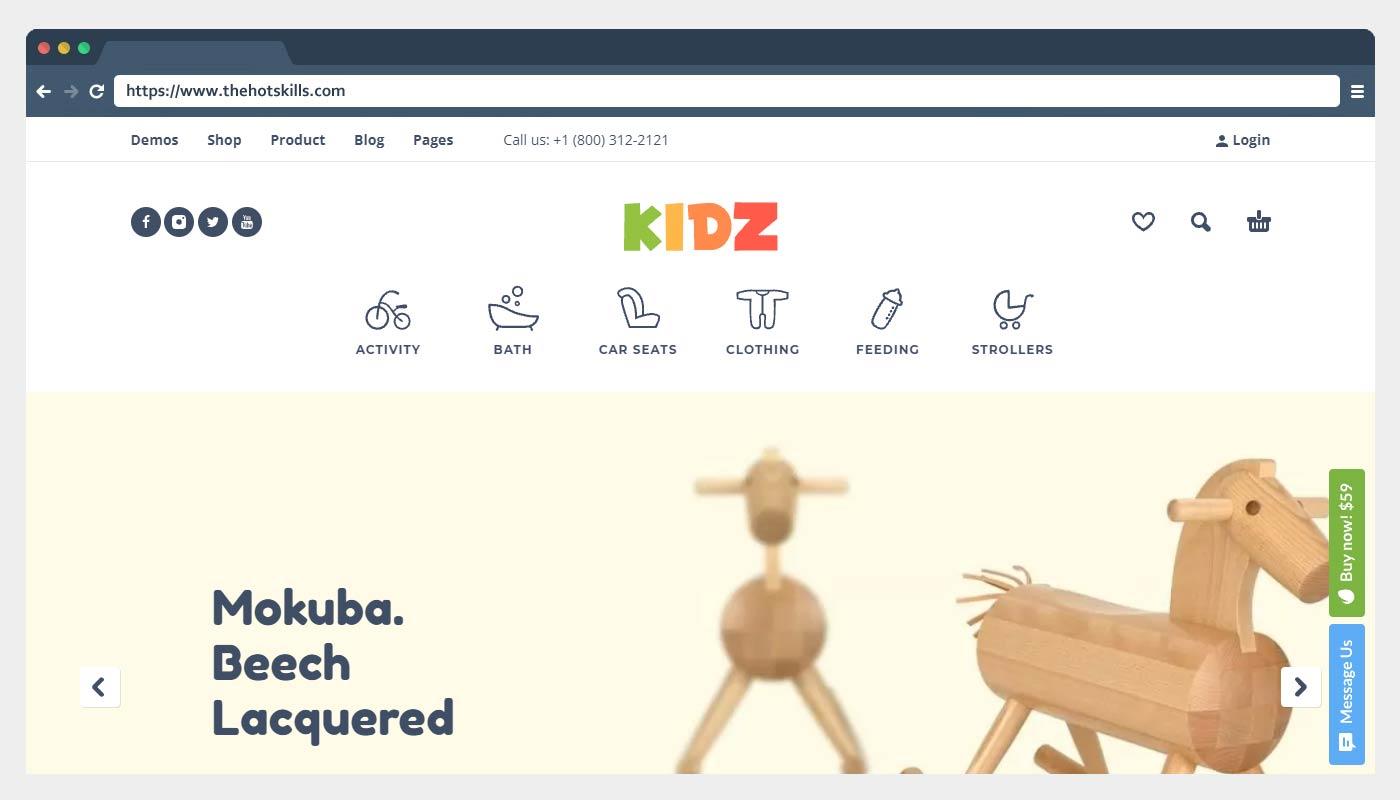 KIDZ - Baby Shop & Kids Store Theme