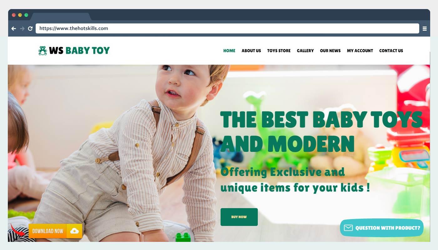 WS Toy – Free Kids Store WordPress Theme