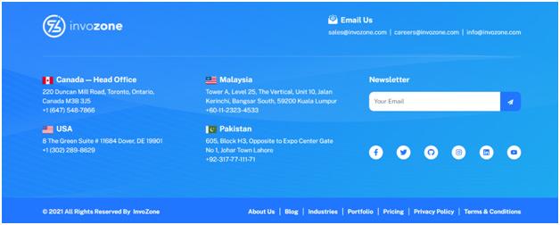 Website Contact Info
